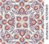 floral pattern flourish tiled... | Shutterstock .eps vector #407054845