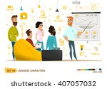 business characters collection | Shutterstock .eps vector #407057032