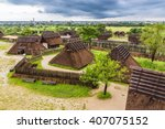traditional japanese town in... | Shutterstock . vector #407075152