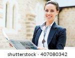 portrait of business woman...   Shutterstock . vector #407080342