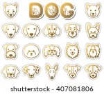 dog   icon | Shutterstock .eps vector #407081806