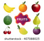 fruit vector collection... | Shutterstock .eps vector #407088025
