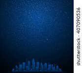 Vector Background. Starry Nigh...