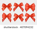vector ribbons set for... | Shutterstock .eps vector #407094232