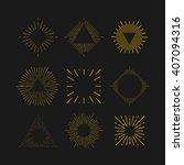 tribal boho gold sun burst... | Shutterstock .eps vector #407094316