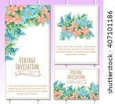 romantic invitation. wedding ... | Shutterstock .eps vector #407101186