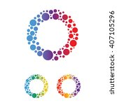 abstract dots text o symbol | Shutterstock .eps vector #407105296