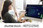 php programming html coding... | Shutterstock . vector #407112565