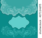 vector lace template for... | Shutterstock .eps vector #407114695