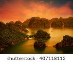 Halong Bay In Sunset In Vietna...