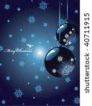 vector christmas background | Shutterstock .eps vector #40711915