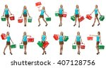 composite photo of woman with... | Shutterstock . vector #407128756