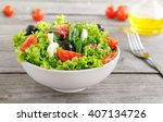 colorful fresh vegetable salad... | Shutterstock . vector #407134726