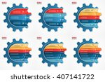 vector gear style infographic... | Shutterstock .eps vector #407141722