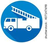 fire truck flat icon   Shutterstock .eps vector #407147698