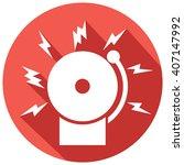 fire alarm icon  bell    Shutterstock .eps vector #407147992