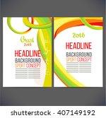 abstract vector template design ... | Shutterstock .eps vector #407149192
