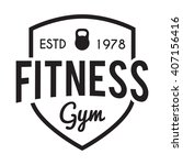 fitness and gym typographic... | Shutterstock .eps vector #407156416