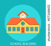 school building | Shutterstock .eps vector #407168602