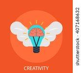 creativity  | Shutterstock .eps vector #407168632