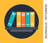 bookcase web icon.bookshelf... | Shutterstock .eps vector #407168656