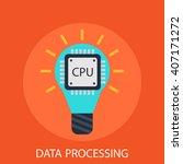 data processing | Shutterstock .eps vector #407171272