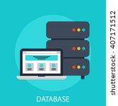 database flat icon server