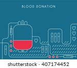 blood donation vector poster.... | Shutterstock .eps vector #407174452