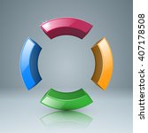 the circle in four parts icon. | Shutterstock .eps vector #407178508