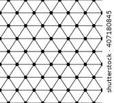black white triangles lattice... | Shutterstock .eps vector #407180845