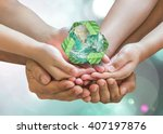 world environment day and... | Shutterstock . vector #407197876