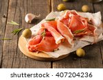 closeup of thin slices of... | Shutterstock . vector #407204236