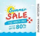summer sale heading design for... | Shutterstock .eps vector #407209246