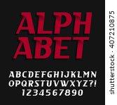 decorative alphabet font.... | Shutterstock .eps vector #407210875