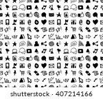 hand drawn seamless doodle... | Shutterstock .eps vector #407214166