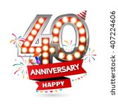 happy anniversary celebration... | Shutterstock .eps vector #407224606