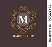 elegant monogram design. vector ...   Shutterstock .eps vector #407228692