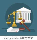 law banner concept  judical... | Shutterstock .eps vector #407232856