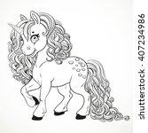 Cute Fabulous Unicorn With...