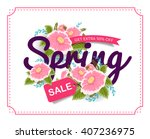 spring sale banner poster tag... | Shutterstock .eps vector #407236975