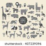 cute animal vector illustration ... | Shutterstock .eps vector #407239396