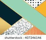 abstract fashion art pattern.... | Shutterstock .eps vector #407246146