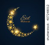 eid mubarak vector background... | Shutterstock .eps vector #407248012