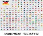world flag illustrations in the ... | Shutterstock . vector #407255542