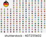 world flag illustrations in the ... | Shutterstock . vector #407255602