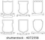 set of vector emblems  crests ...