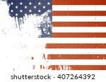 old usa flag. grunge texture... | Shutterstock . vector #407264392