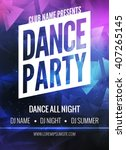 dance party poster template.... | Shutterstock .eps vector #407265145