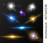 realistic glow light effects.... | Shutterstock .eps vector #407265238