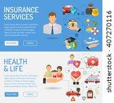 insurance services horizontal... | Shutterstock .eps vector #407270116